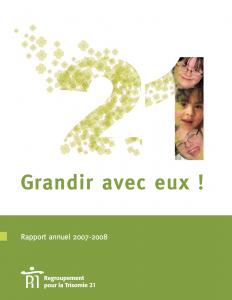 Couverture du rapport annuel 2007-2008