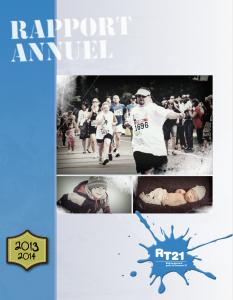 Couverture du rapport annuel 2013-2014 du RT21