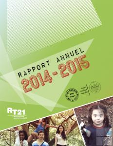 Couverture du rapport annuel 2014-2015 du RT21