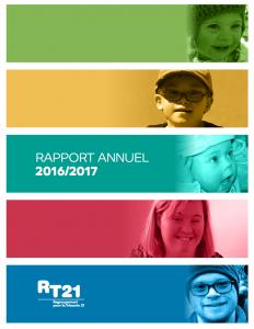 Couverture du rapport annuel 2016-2017 du RT21