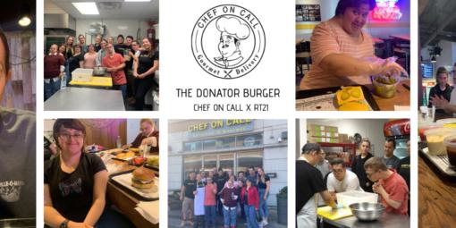 Donator burger – 2$ remis au RT21 pour chaque burger vendu